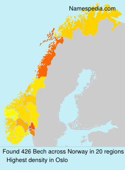 Surname Bech in Norway
