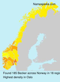Familiennamen Becker - Norway