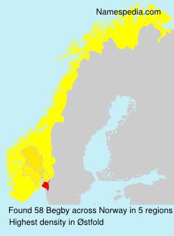 Surname Begby in Norway