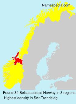 Surname Belsas in Norway