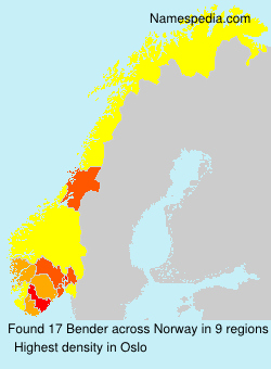 Surname Bender in Norway