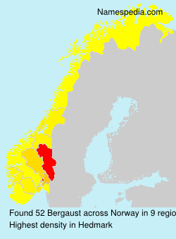 Surname Bergaust in Norway