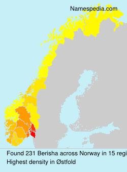 Familiennamen Berisha - Norway
