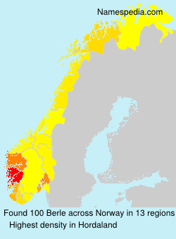 Surname Berle in Norway
