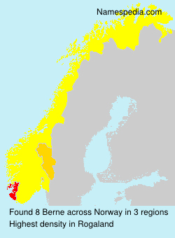 Surname Berne in Norway