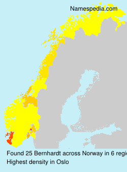 Surname Bernhardt in Norway