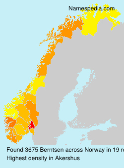 Surname Berntsen in Norway