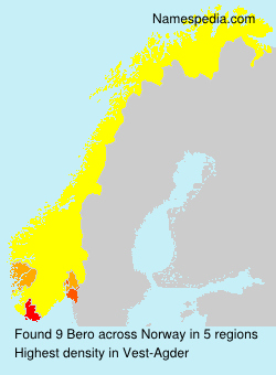 Surname Bero in Norway
