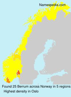 Surname Berrum in Norway