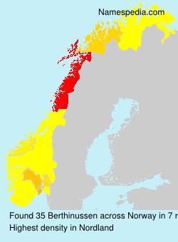 Familiennamen Berthinussen - Norway