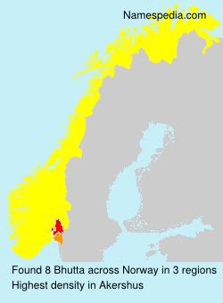 Surname Bhutta in Norway