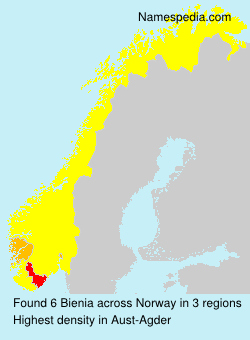 Surname Bienia in Norway