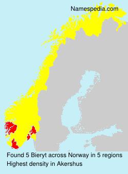 Surname Bieryt in Norway