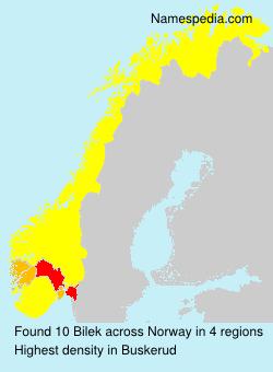 Familiennamen Bilek - Norway