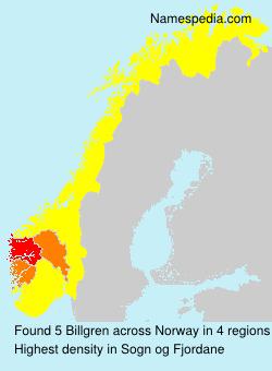 Surname Billgren in Norway