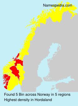 Familiennamen Bin - Norway