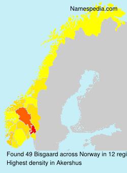 Surname Bisgaard in Norway