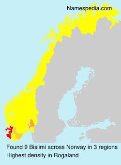 Surname Bislimi in Norway