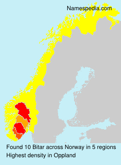 Surname Bitar in Norway