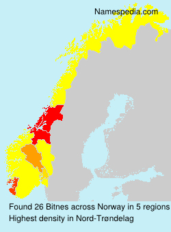 Surname Bitnes in Norway