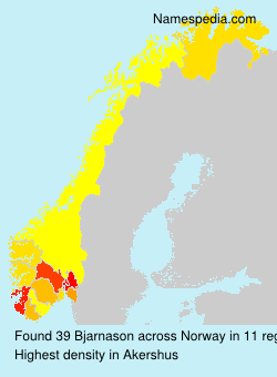 Surname Bjarnason in Norway