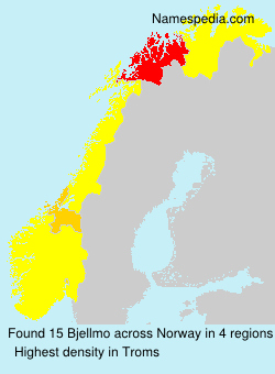Surname Bjellmo in Norway
