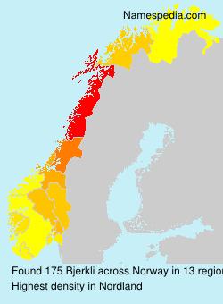 Familiennamen Bjerkli - Norway