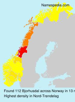 Surname Bjorhusdal in Norway