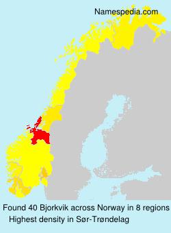 Surname Bjorkvik in Norway