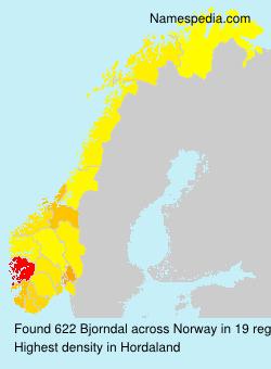Familiennamen Bjorndal - Norway