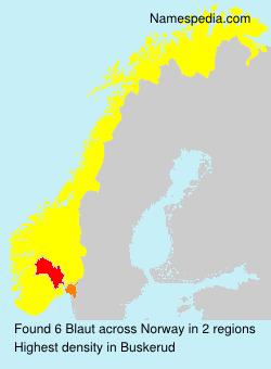 Familiennamen Blaut - Norway