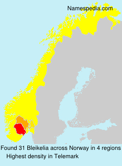 Surname Bleikelia in Norway