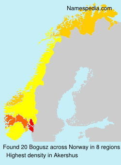 Surname Bogusz in Norway