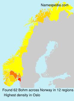 Surname Bohm in Norway
