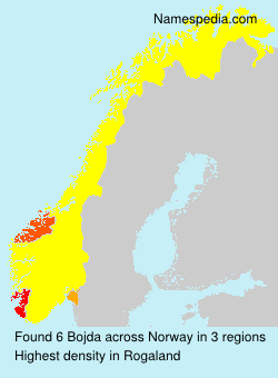 Surname Bojda in Norway