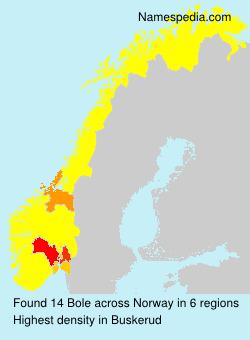 Familiennamen Bole - Norway