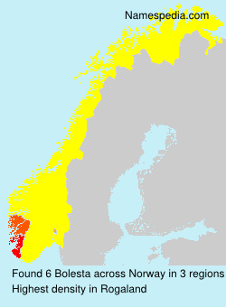 Surname Bolesta in Norway