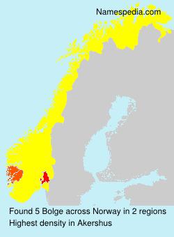 Familiennamen Bolge - Norway