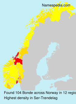Surname Bonde in Norway