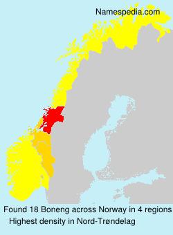 Familiennamen Boneng - Norway