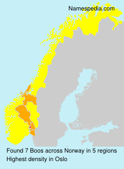 Surname Boos in Norway