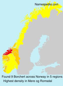 Familiennamen Borchert - Norway