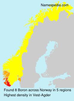 Familiennamen Boron - Norway