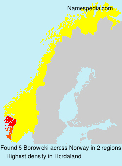 Surname Borowicki in Norway