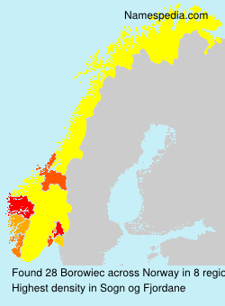 Surname Borowiec in Norway