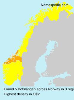 Surname Botslangen in Norway