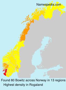 Familiennamen Bowitz - Norway