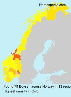 Surname Boysen in Norway