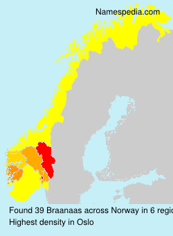 Surname Braanaas in Norway