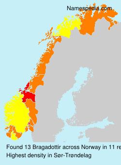 Surname Bragadottir in Norway